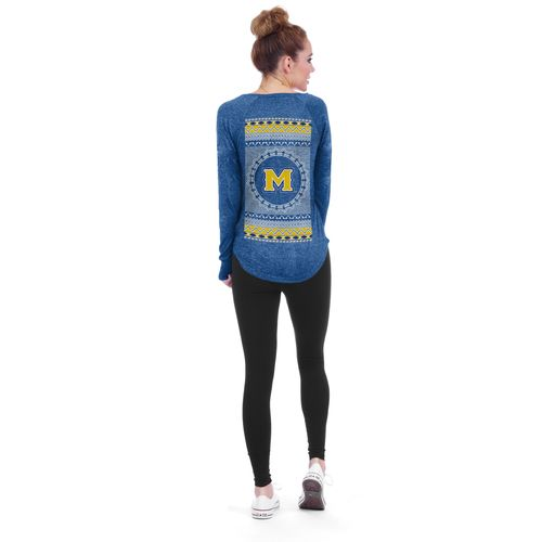 Chicka-d Women's McNeese State University Favorite V-neck Long Sleeve T-shirt - view number 3