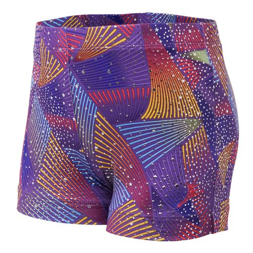 Capezio® Girls' Future Star Rainbow Cyclone Printed Bike Short