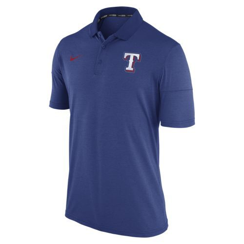 Nike Men's Texas Rangers Short Sleeve Polo Shirt - view number 1