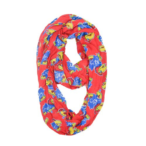 ZooZatz Women's University of Kansas Collegiate Infinity Scarf