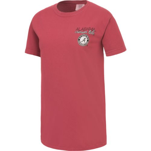 Image One Women's University of Alabama Laces and Bows Comfort Color T-shirt - view number 2
