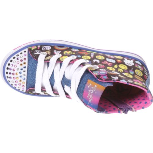 SKECHERS Girls' Twinkle Toes Shuffles Chat Time Shoes - view number 4