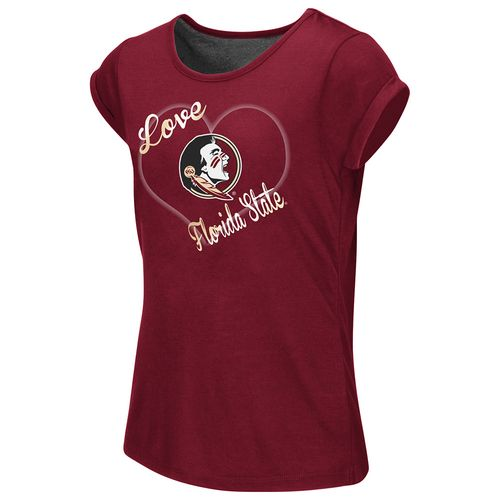 Colosseum Athletics™ Girls' Florida State University Baywatch Split Back T-shirt - view number 1