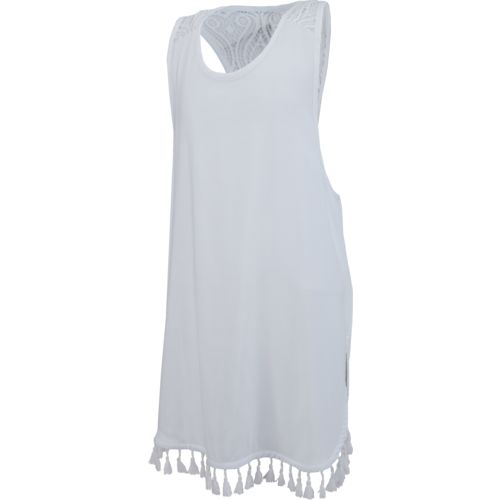 O'Rageous Juniors' Crochet Back Dress Cover-Up
