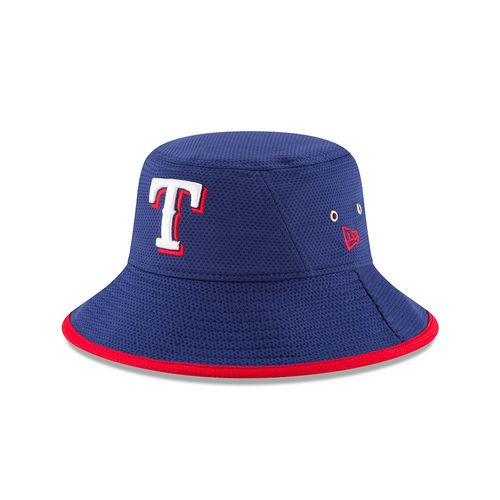 New Era Men's Texas Rangers Team Bucket 3 Stretch Bucket Hat