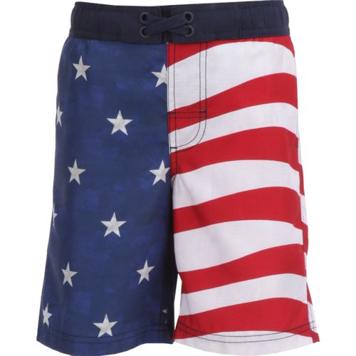 O'Rageous Boys' Americana Flag Boardshort
