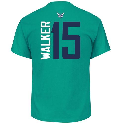 Majestic Men's Charlotte Hornets Kemba Walker 15 Vertical Name and Number T-shirt - view number 1