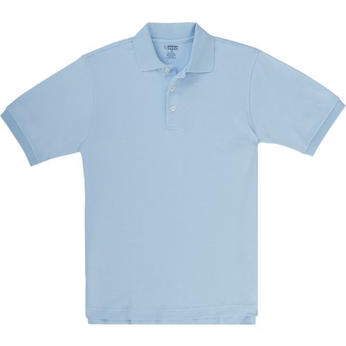 French Toast Boys' Short Sleeve Interlock Knit Polo Uniform Shirt