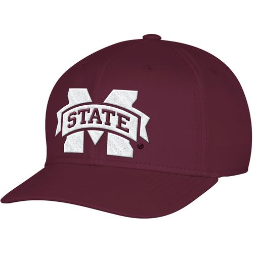 adidas Men's Mississippi State University Structured Logo Flex Cap
