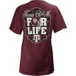 Three Squared Juniors' Texas A&M University Team For Life Short Sleeve V-neck T-shirt - view number 1