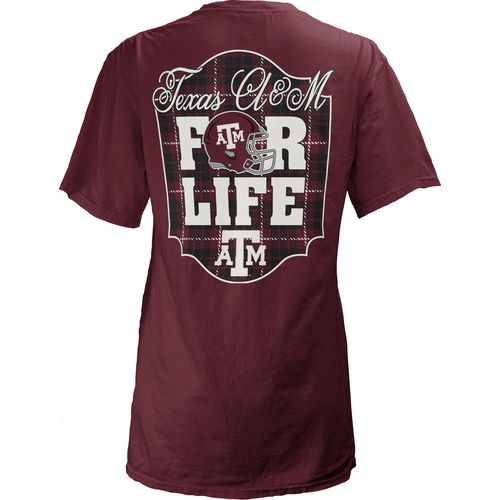 Three Squared Juniors' Texas A&M University Team For Life Short Sleeve V-neck T-shirt