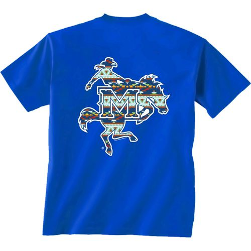 New World Graphics Women's McNeese State University Logo Aztec T-shirt