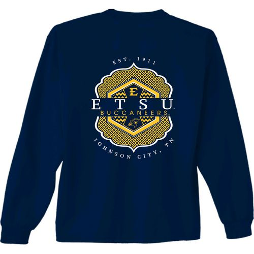 New World Graphics Women's East Tennessee State University Faux Pocket Long Sleeve T-shirt