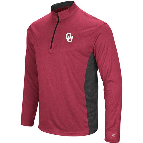 Colosseum Athletics Men's University of Oklahoma Audible 1/4 Zip Windshirt