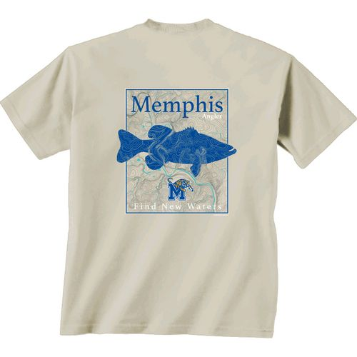 New World Graphics Men's University of Memphis Angler Topo Short Sleeve T-shirt