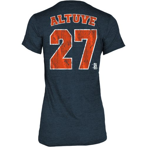 5th & Ocean Clothing Women's Houston Astros Jose Altuve 27 V-neck T-shirt