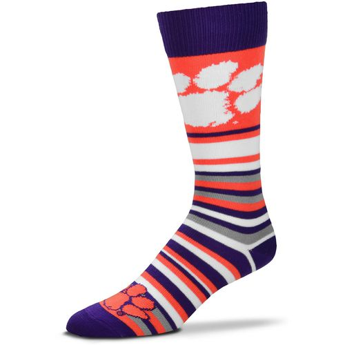 For Bare Feet Clemson University Lotta Stripe Thin Knee High Dress Socks