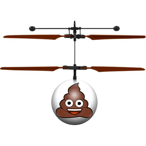 World Tech Toys Poop Emoji IR UFO Ball Helicopter - view number 2