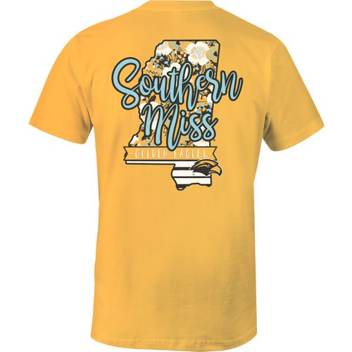 Image One Women's University of Southern Mississippi 2-Tone Patterned State T-shirt