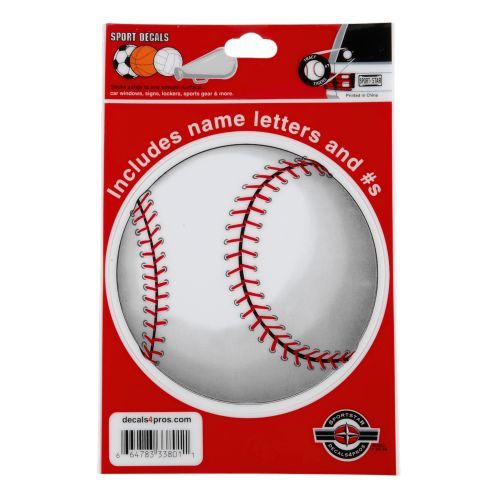 Sportstar Baseball Window Decal