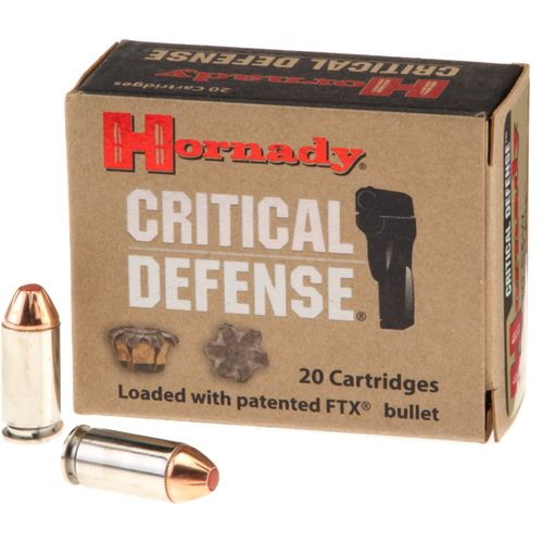 Hornady .40 165-Grain Critical Defense® Handgun Ammunition