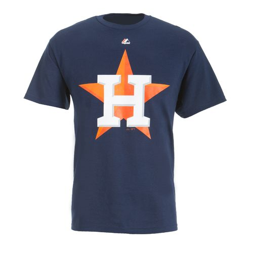 Display product reviews for Majestic Men's Houston Astros Official Logo T-shirt
