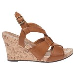 Autumn Run® Women's Tan Loop Wedge Sandals