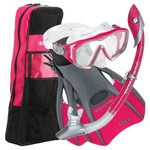 U.S. Divers Women's Diva Silicone Snorkeling Set