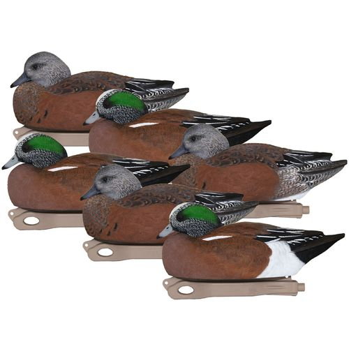 Hard Core 3-D Wigeon Duck Decoys 6-Pack