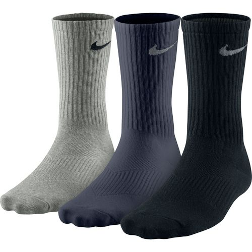Nike Men's Cotton Lightweight Crew Socks 3-Pack