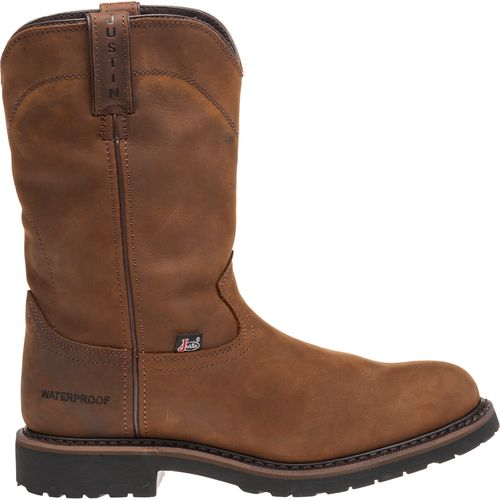 Display product reviews for Justin Men's Wyoming Waterproof Wellington Work Boots