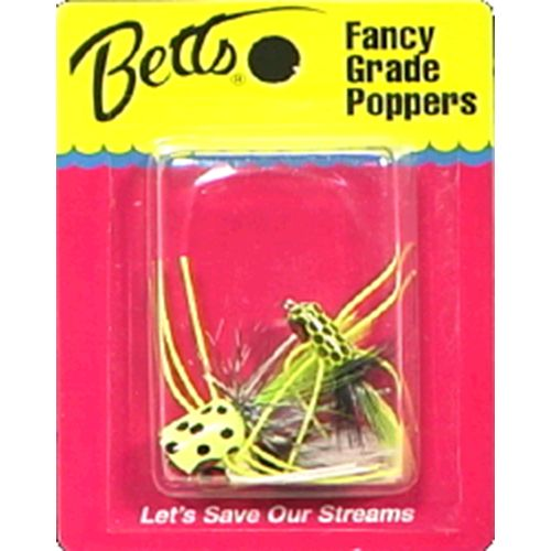 Betts Panfish Popper Flies 3-Pack