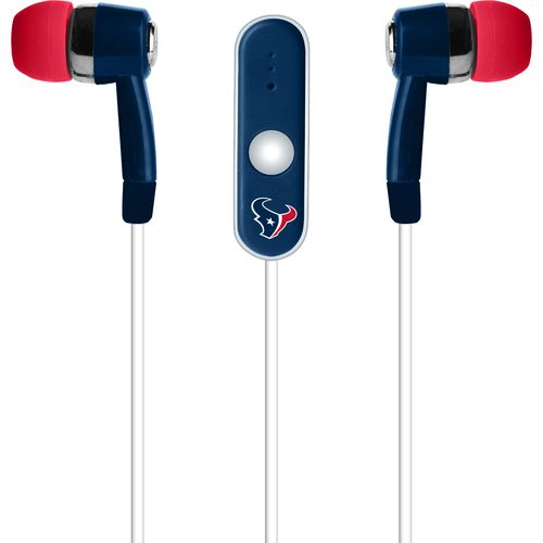 Mizco Houston Texans Stereo Hands-Free Earbuds