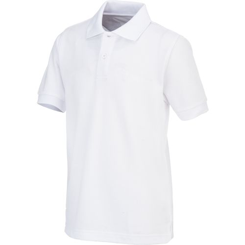 a white polo shirt