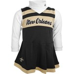 NFL Toddler Girls' New Orleans Saints Cheer Jumper Dress with Turtleneck Set - view number 1