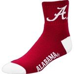 For Bare Feet Men's University of Alabama Originals Team Quarter Socks