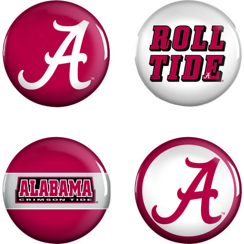 WinCraft University of Alabama Buttons 4-Pack