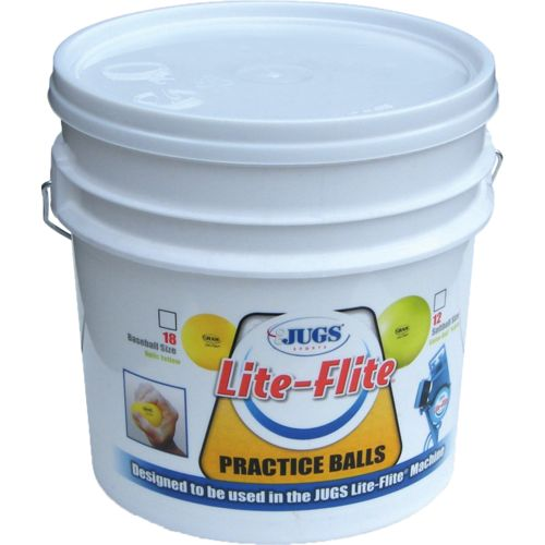 Display product reviews for JUGS Lite-Flite Baseballs 18-Count Bucket