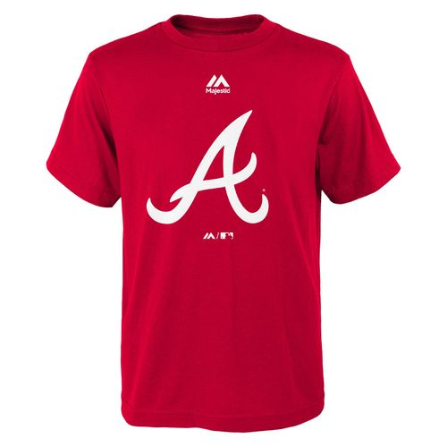 Majestic Boys' Atlanta Braves Logo T-shirt
