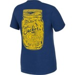 New World Graphics Women's Georgia Tech Mason Jar T-shirt