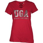 Three Squared Juniors' University of Georgia Missy Bling Party T-shirt