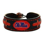 GameWear University of Mississippi Team Color Football Bracelet