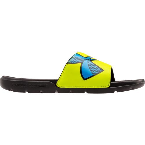 Under Armour™ Boys' Strike Checkboard Slides