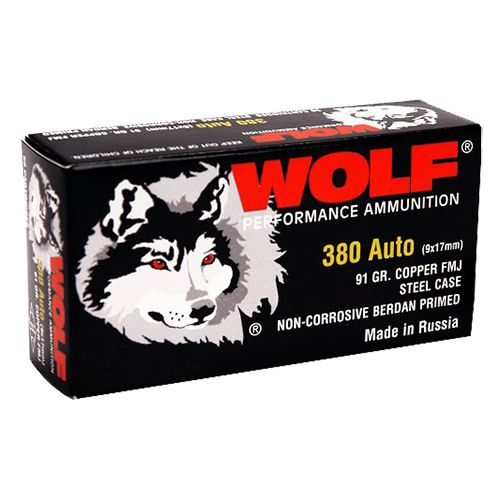 WOLF Performance Ammunition Military Classic .380 ACP 91-Grain Full Metal Jacket Centerfire Handgun