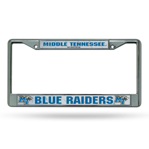 Rico Middle Tennessee State University Chrome License Plate Frame
