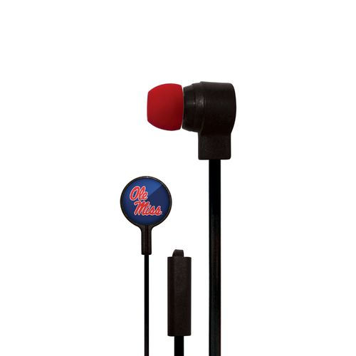 Mizco University of Mississippi Big Logo Earbuds