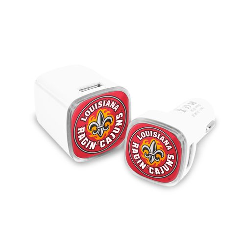 Mizco University of Louisiana at Lafayette USB Chargers 2-Pack