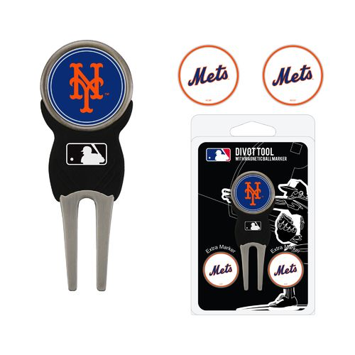 Team Golf New York Mets Divot Tool and Ball Marker Set - view number 1