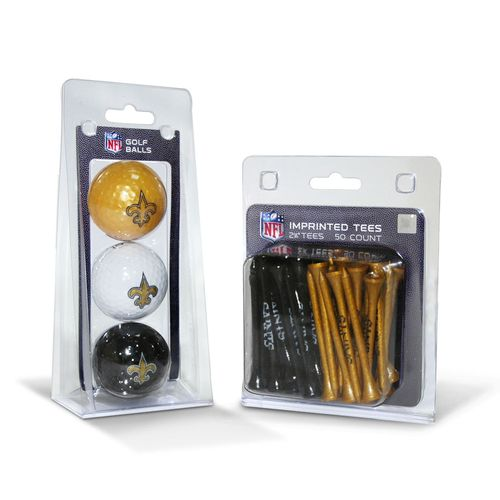 Team Golf New Orleans Saints Golf Balls and Tees Set