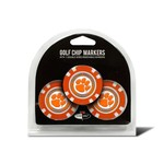 Team Golf Clemson University Poker Chip and Golf Ball Marker Set